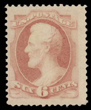 Cost of US Stamp Scott # 186 - 6c 1879 Lincoln. Daniel Kelleher Auctions, May 2015, Sale 669, Lot 2667
