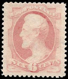 US Stamp Prices Scott Catalog # 186 - 1879 6c Lincoln. Schuyler J. Rumsey Philatelic Auctions, Apr 2015, Sale 60, Lot 2177