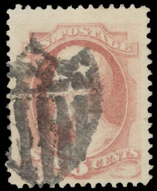 Costs of US Stamp Scott #186 - 1879 6c Lincoln. Daniel Kelleher Auctions, May 2015, Sale 669, Lot 2668