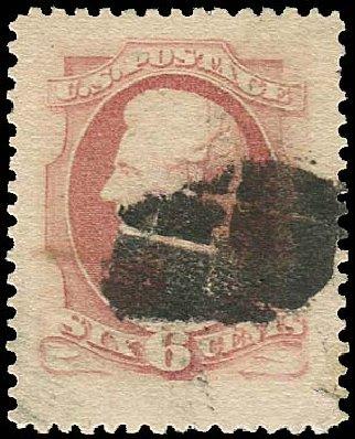 US Stamps Value Scott Catalogue # 186: 1879 6c Lincoln. Regency-Superior, Aug 2015, Sale 112, Lot 339