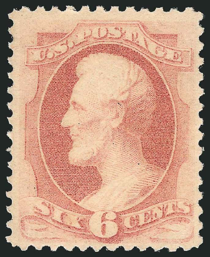 Prices of US Stamp Scott Catalog # 186 - 1879 6c Lincoln. Robert Siegel Auction Galleries, Nov 2014, Sale 1084, Lot 3449