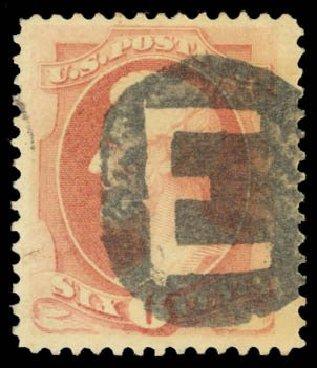 US Stamps Value Scott Cat. # 186: 6c 1879 Lincoln. Daniel Kelleher Auctions, Dec 2014, Sale 661, Lot 164