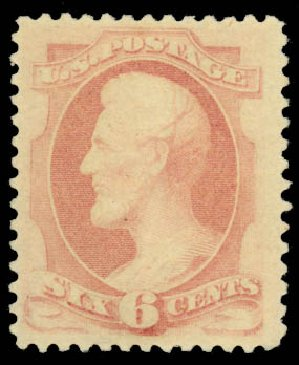 US Stamp Value Scott 186 - 1879 6c Lincoln. Daniel Kelleher Auctions, Jan 2015, Sale 663, Lot 1414
