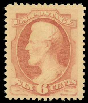 Costs of US Stamp Scott Cat. 186: 1879 6c Lincoln. Daniel Kelleher Auctions, Jan 2015, Sale 663, Lot 1415