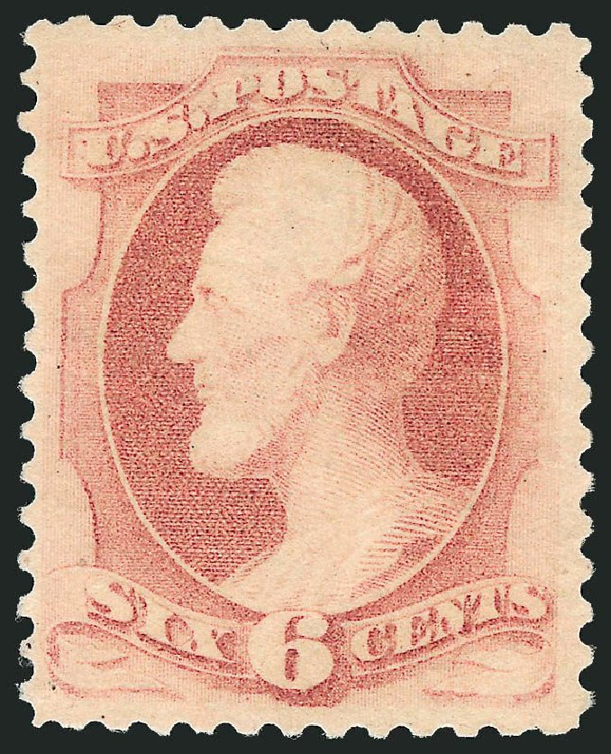 US Stamps Prices Scott Catalog # 186 - 1879 6c Lincoln. Robert Siegel Auction Galleries, Dec 2014, Sale 1090, Lot 1343