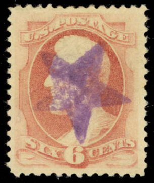 Prices of US Stamp Scott Catalog # 186 - 1879 6c Lincoln. Daniel Kelleher Auctions, Jan 2015, Sale 663, Lot 1416