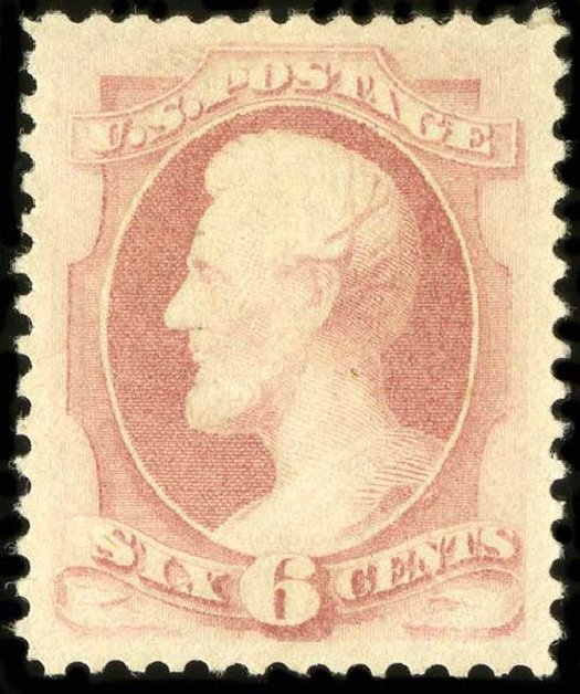 US Stamps Values Scott Catalogue # 186: 1879 6c Lincoln. Spink Shreves Galleries, Jul 2015, Sale 151, Lot 156