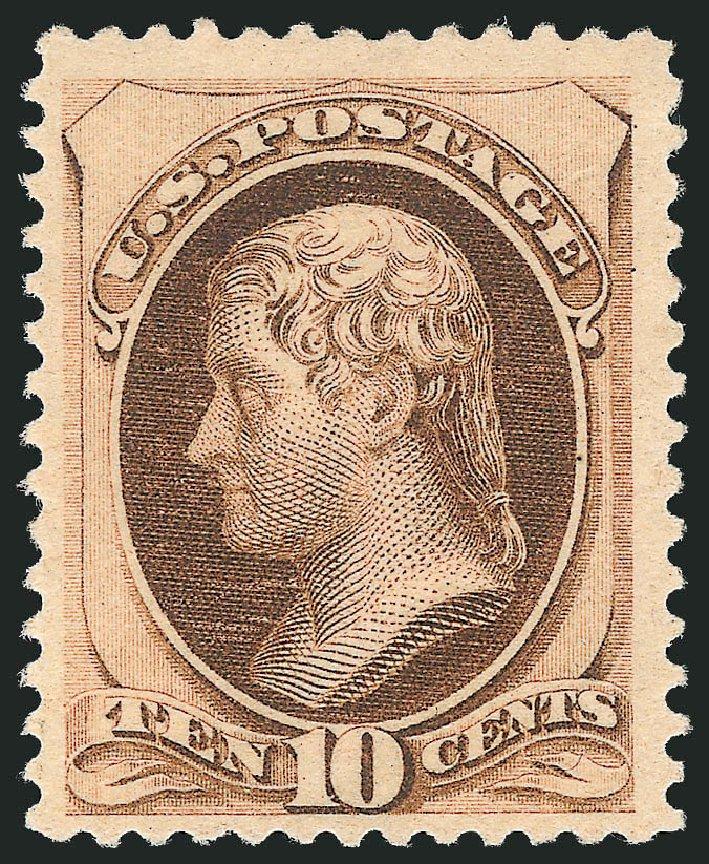Values of US Stamps Scott Catalogue #187: 10c 1879 Jefferson. Robert Siegel Auction Galleries, Jun 2015, Sale 1100, Lot 40