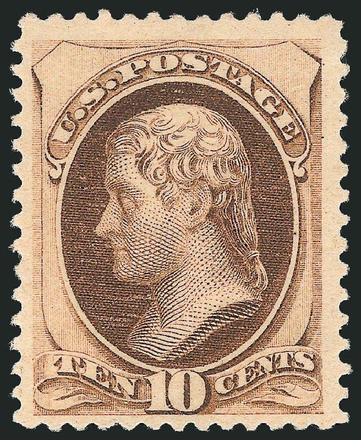 Values of US Stamp Scott Catalogue #187: 1879 10c Jefferson. Robert Siegel Auction Galleries, Dec 2014, Sale 1090, Lot 1344