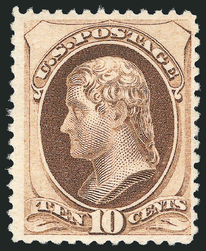 US Stamp Price Scott Catalog #187: 1879 10c Jefferson. Robert Siegel Auction Galleries, Jul 2015, Sale 1107, Lot 284