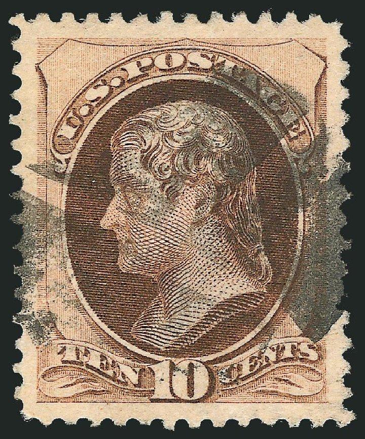 Costs of US Stamps Scott Catalogue 188 - 1879 10c Jefferson. Robert Siegel Auction Galleries, Dec 2014, Sale 1090, Lot 1347