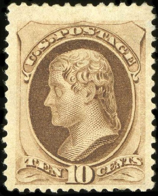 US Stamp Value Scott Catalog #188 - 10c 1879 Jefferson. Spink Shreves Galleries, Jul 2015, Sale 151, Lot 158