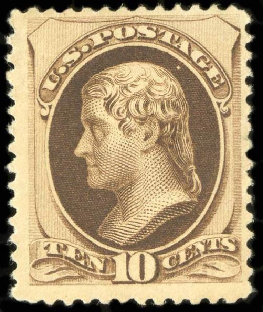 US Stamp Price Scott Catalogue 188: 10c 1879 Jefferson. Spink Shreves Galleries, Jul 2015, Sale 151, Lot 159