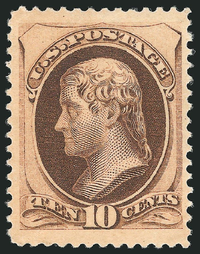 Costs of US Stamp Scott #188 - 10c 1879 Jefferson. Robert Siegel Auction Galleries, Dec 2014, Sale 1090, Lot 1345