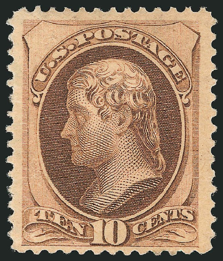 US Stamp Prices Scott Catalogue # 188 - 10c 1879 Jefferson. Robert Siegel Auction Galleries, Apr 2015, Sale 1096, Lot 336