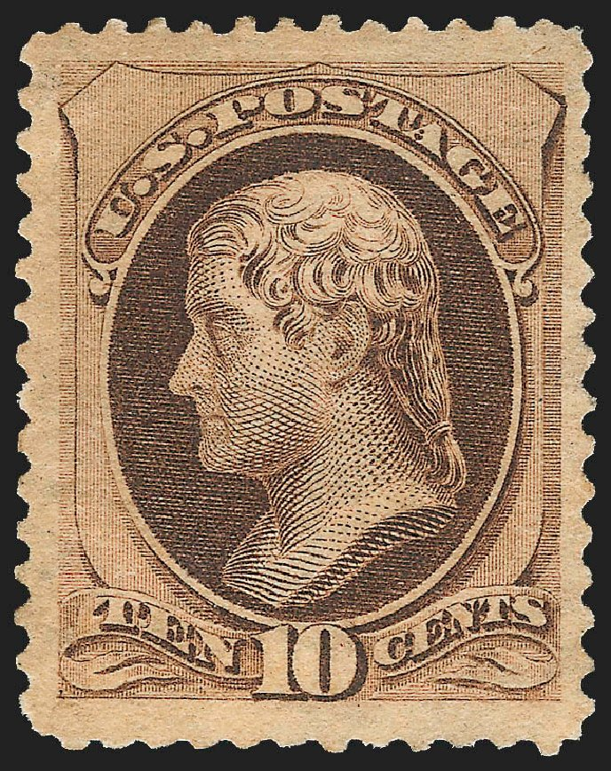Price of US Stamps Scott Cat. # 188 - 10c 1879 Jefferson. Robert Siegel Auction Galleries, Jul 2015, Sale 1107, Lot 286