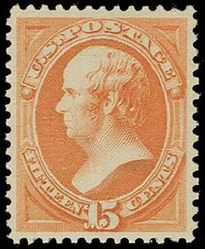 Costs of US Stamp Scott Catalogue #189: 1879 15c Webster. H.R. Harmer, Jun 2015, Sale 3007, Lot 3227