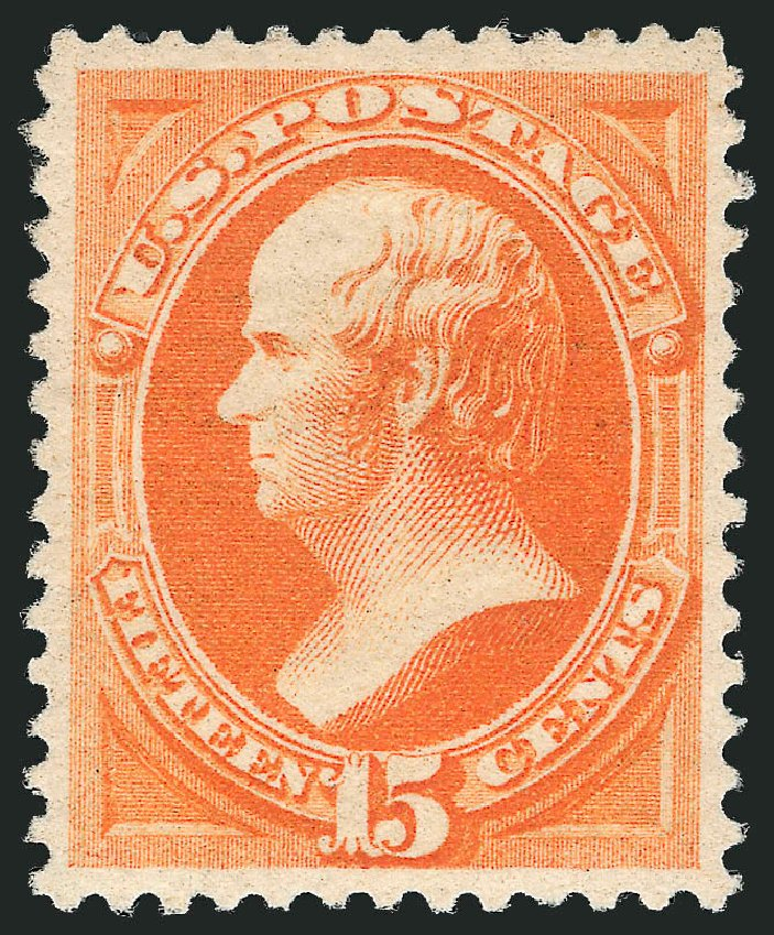Values of US Stamps Scott Catalogue #189 - 1879 15c Webster. Robert Siegel Auction Galleries, Apr 2015, Sale 1096, Lot 337