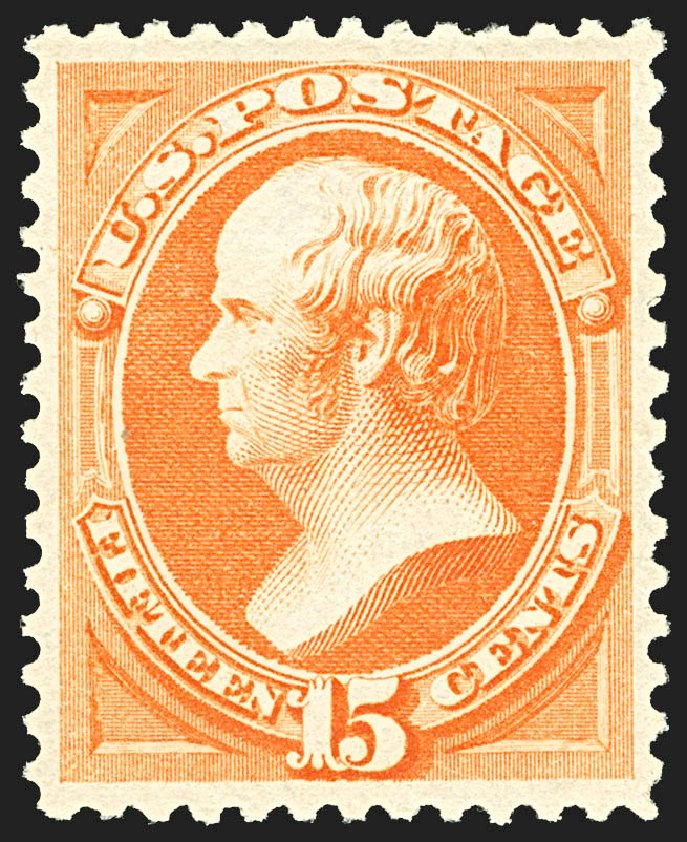 Values of US Stamps Scott Catalog #189: 1879 15c Webster. Robert Siegel Auction Galleries, Jul 2015, Sale 1107, Lot 287