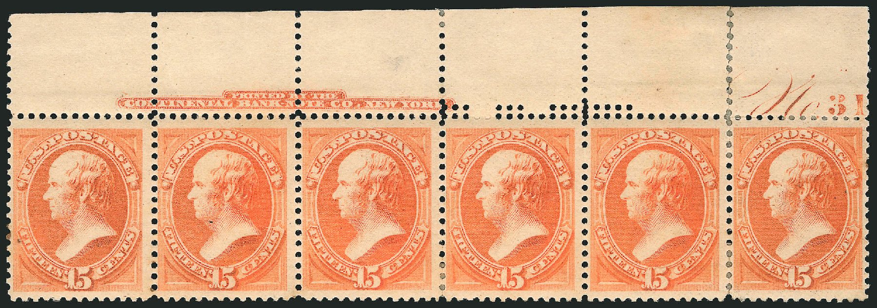 US Stamp Price Scott # 189 - 1879 15c Webster. Robert Siegel Auction Galleries, Apr 2015, Sale 1096, Lot 338