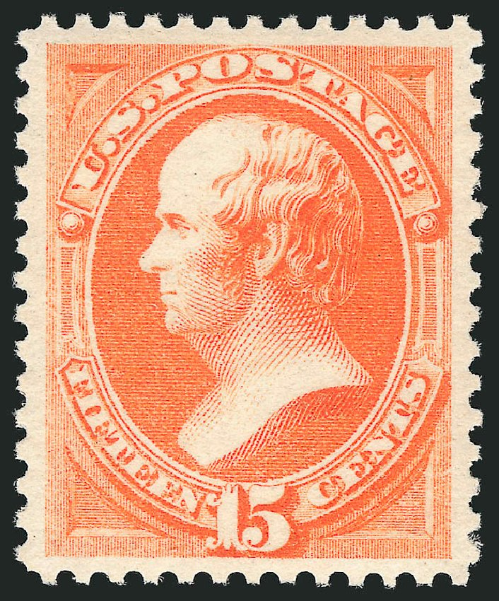 US Stamps Prices Scott Catalogue 189: 1879 15c Webster. Robert Siegel Auction Galleries, Jun 2015, Sale 1106, Lot 3129
