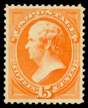 Prices of US Stamp Scott Cat. #189 - 15c 1879 Webster. Daniel Kelleher Auctions, May 2015, Sale 669, Lot 2670
