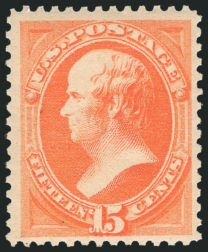 US Stamp Values Scott Catalog #189: 1879 15c Webster. Robert Siegel Auction Galleries, Feb 2015, Sale 1092, Lot 1140