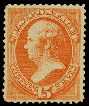 Costs of US Stamp Scott Catalog # 189: 1879 15c Webster. Daniel Kelleher Auctions, May 2015, Sale 669, Lot 2671