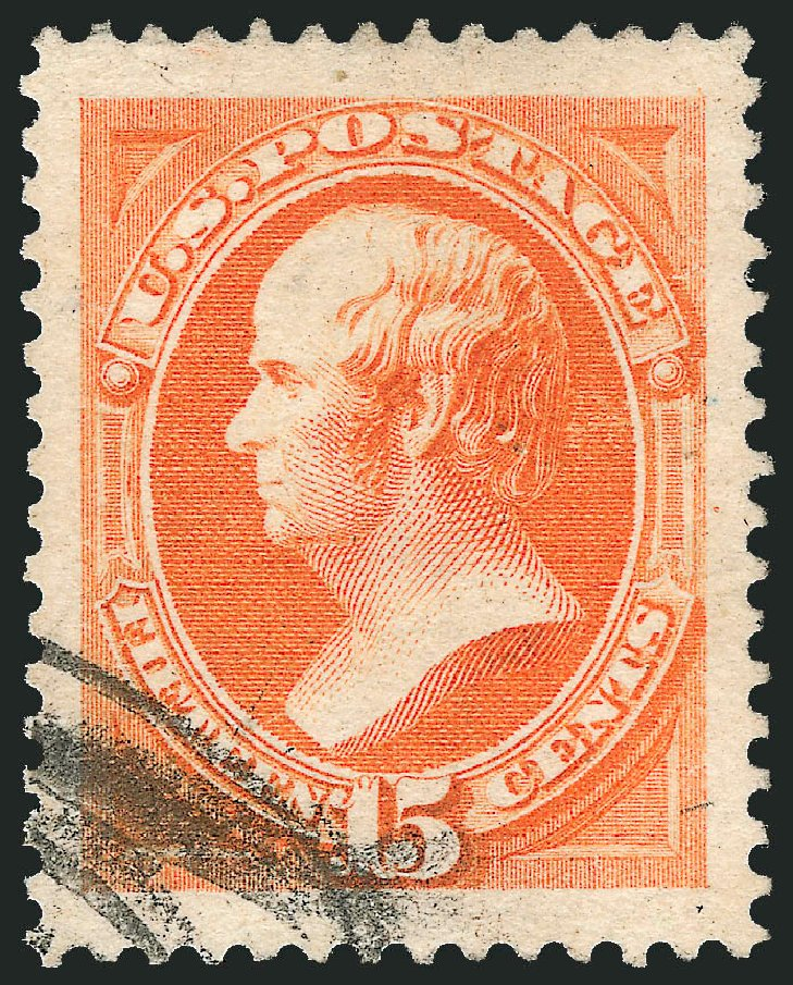 Values of US Stamps Scott Catalogue #189: 1879 15c Webster. Robert Siegel Auction Galleries, Feb 2015, Sale 1092, Lot 1141