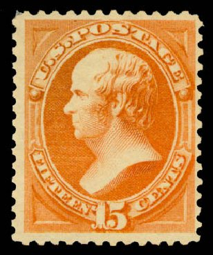 US Stamp Price Scott Catalog 189: 15c 1879 Webster. Daniel Kelleher Auctions, May 2015, Sale 669, Lot 2672