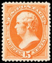 US Stamps Prices Scott Catalogue 189 - 15c 1879 Webster. Schuyler J. Rumsey Philatelic Auctions, Apr 2015, Sale 60, Lot 2182