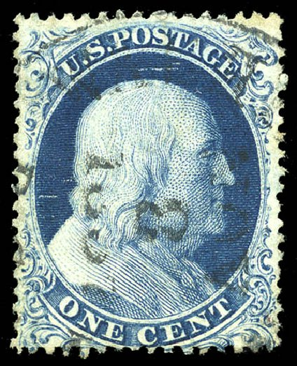 Prices of US Stamp Scott Catalogue #19: 1857 1c Franklin. Matthew Bennett International, Feb 2015, Sale 351, Lot 38