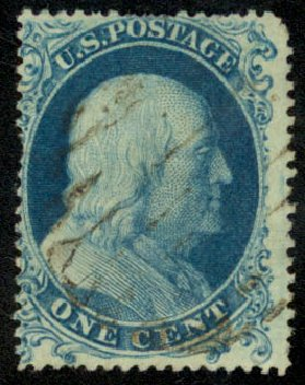 Costs of US Stamps Scott Cat. 19: 1c 1857 Franklin. Daniel Kelleher Auctions, Aug 2015, Sale 672, Lot 2168