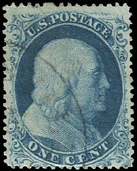 Value of US Stamp Scott Cat. 19: 1857 1c Franklin. Regency-Superior, Jan 2015, Sale 109, Lot 578