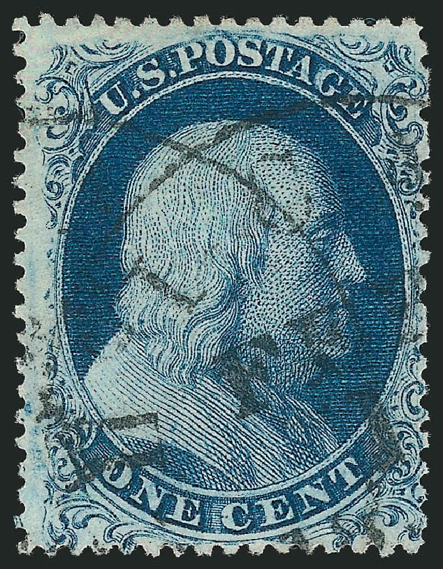 Costs of US Stamp Scott Cat. # 19: 1c 1857 Franklin. Robert Siegel Auction Galleries, Dec 2014, Sale 1090, Lot 1148