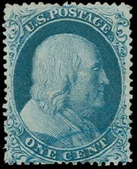 Costs of US Stamp Scott Catalogue 19 - 1857 1c Franklin. H.R. Harmer, Jun 2015, Sale 3007, Lot 3114