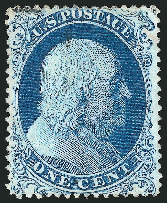 US Stamps Value Scott #19 - 1857 1c Franklin. Robert Siegel Auction Galleries, Apr 2015, Sale 1096, Lot 42