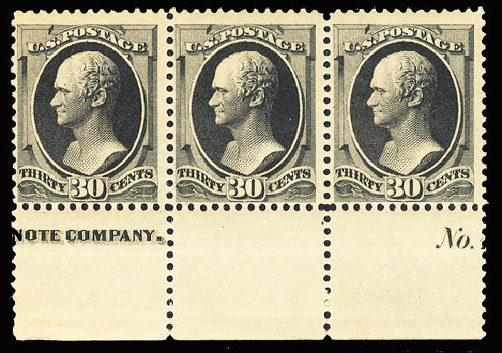 Cost of US Stamp Scott # 190 - 1879 30c Hamilton. Cherrystone Auctions, Jan 2015, Sale 201501, Lot 158