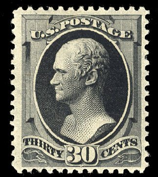 Price of US Stamps Scott Cat. # 190 - 1879 30c Hamilton. Cherrystone Auctions, Mar 2015, Sale 201503, Lot 19