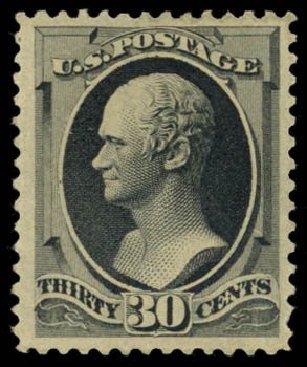 Cost of US Stamp Scott 190 - 30c 1879 Hamilton. Daniel Kelleher Auctions, Dec 2014, Sale 661, Lot 170