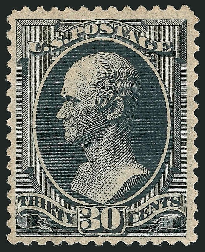 Value of US Stamp Scott Catalog #190 - 1879 30c Hamilton. Robert Siegel Auction Galleries, Dec 2014, Sale 1090, Lot 1350