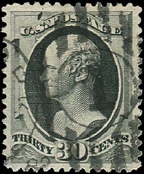 US Stamp Value Scott # 190: 30c 1879 Hamilton. Regency-Superior, Nov 2014, Sale 108, Lot 371