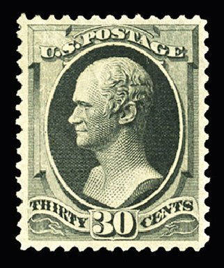US Stamp Prices Scott Catalog #190: 30c 1879 Hamilton. Cherrystone Auctions, Jul 2015, Sale 201507, Lot 2075