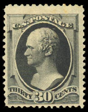 US Stamp Prices Scott # 190: 30c 1879 Hamilton. Daniel Kelleher Auctions, Aug 2015, Sale 672, Lot 2442