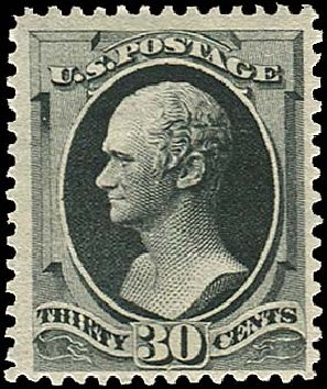 Values of US Stamp Scott Cat. #190 - 1879 30c Hamilton. Regency-Superior, Jan 2015, Sale 109, Lot 842