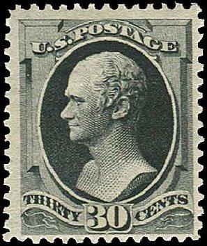 Values of US Stamp Scott Cat. #190 - 1879 30c Hamilton. Regency-Superior, Jan 2015, Sale 109, Lot 842