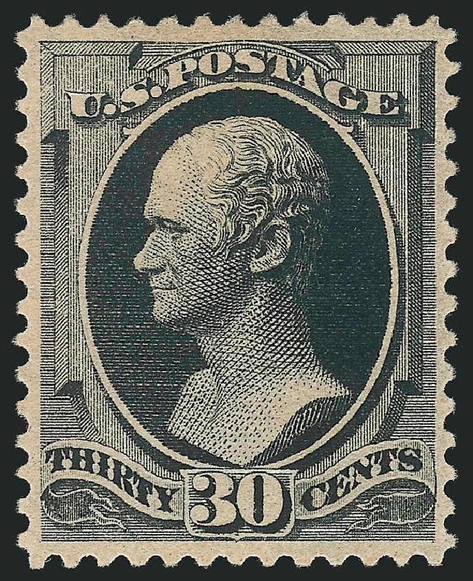 US Stamp Values Scott Catalog #190: 30c 1879 Hamilton. Robert Siegel Auction Galleries, Feb 2015, Sale 1092, Lot 1142