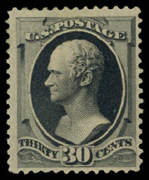 Values of US Stamp Scott Catalogue 190 - 30c 1879 Hamilton. Daniel Kelleher Auctions, May 2015, Sale 669, Lot 2673