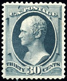Costs of US Stamps Scott Cat. # 190 - 1879 30c Hamilton. Schuyler J. Rumsey Philatelic Auctions, Apr 2015, Sale 60, Lot 2183