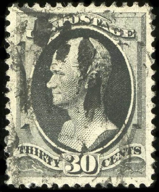 Cost of US Stamp Scott Catalogue #190: 30c 1879 Hamilton. Spink Shreves Galleries, Jul 2015, Sale 151, Lot 163